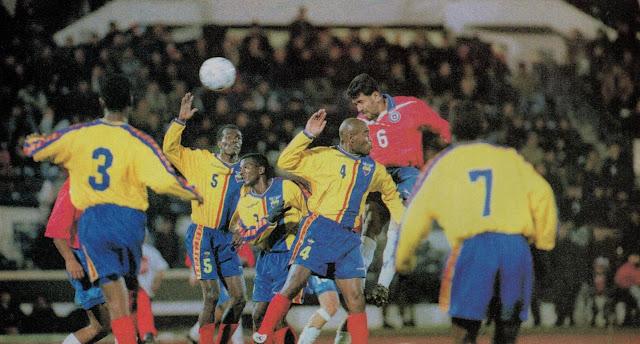 Chile y Ecuador en partido amistoso, 23 de junio de 1999
