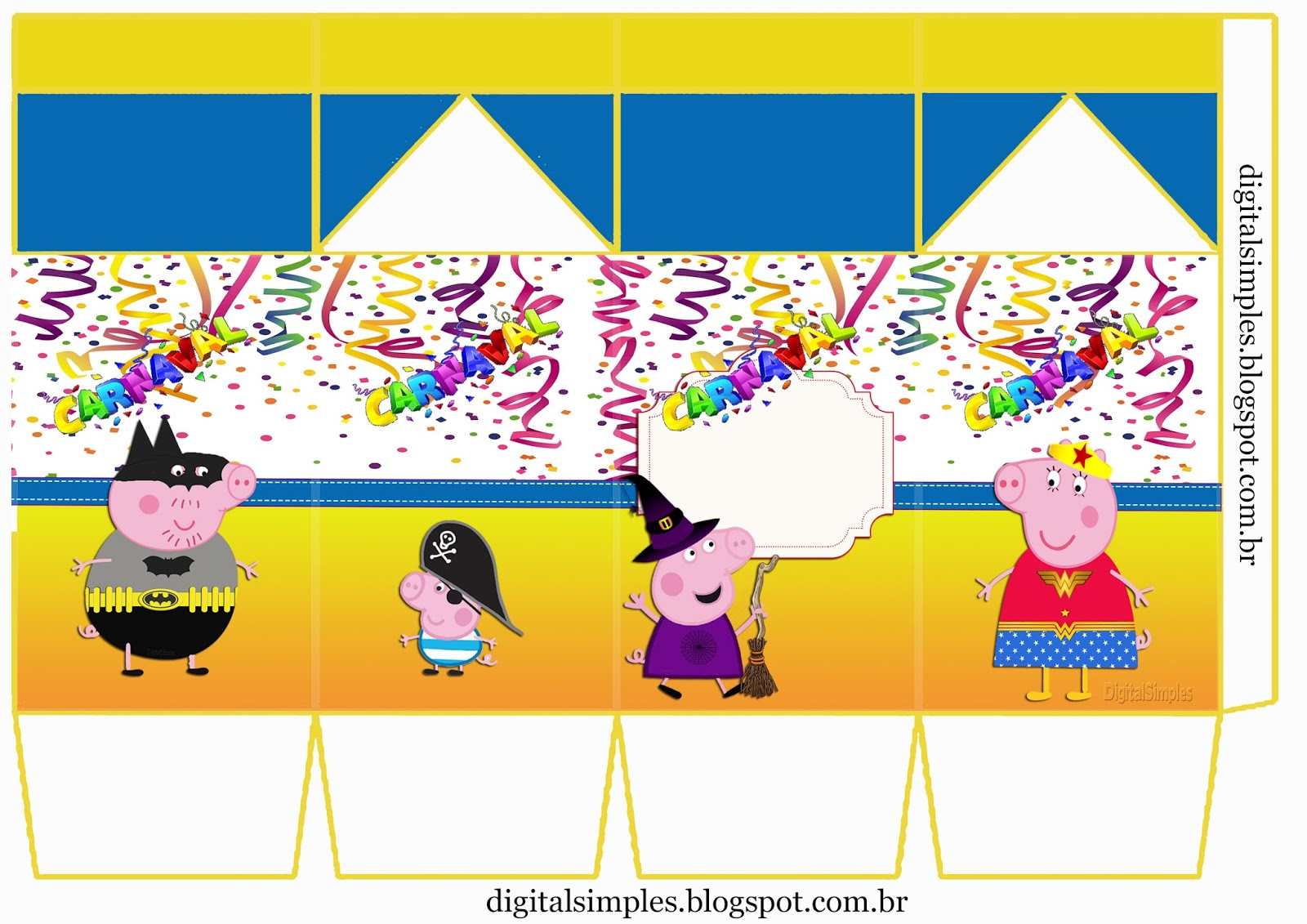 carnival with peppa pig  free printable boxes