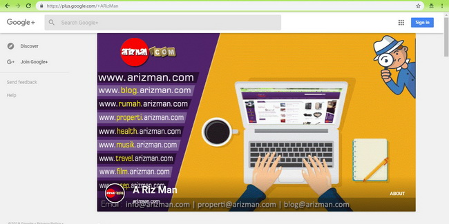 Google plus arizman.com