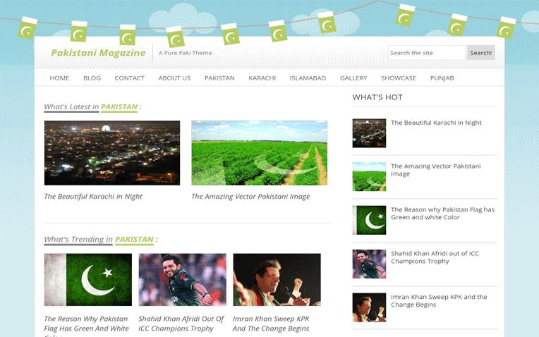 Pakistani Mag Free Blogger Template