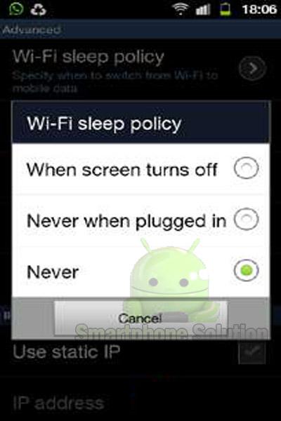 wifi sering putus di android