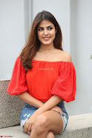 Rhea Chakraborty in Red Crop Top and Denim Shorts Spicy Pics ~  Exclusive 319.JPG