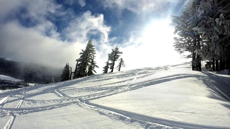 Landscape, Snow and Sun on Sky