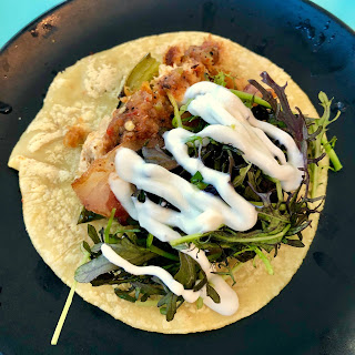 Spicy baja fish taco at Lola 55