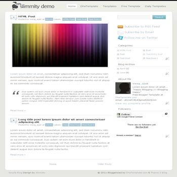 SimpleBlog blogger template. minimalist design template for blog
