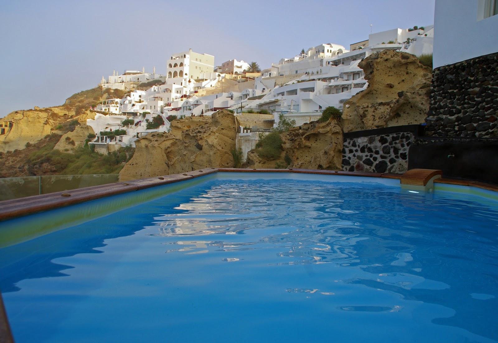 Swimming Pool at Nostos Apartments Oia Santorini
