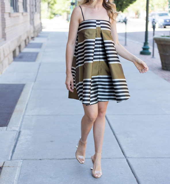 Love this striped trapeze dress!