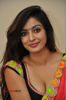 Actress Vaibhavi Joshi Pictures in Red Saree at Guntur Talkies 2 Movie Opening  0033.JPG