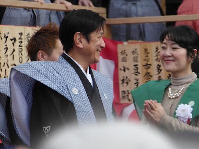 成田山節分祭 桂米團治 宮川さゆみ