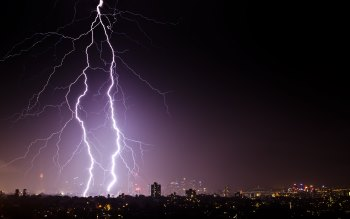 Wallpaper: Lightning and thunder in Sydney