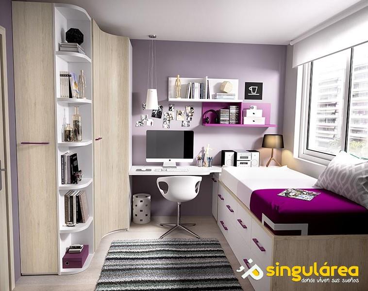 Juvenil sin armario 1007 for Dormitorios juveniles baratos sin armario