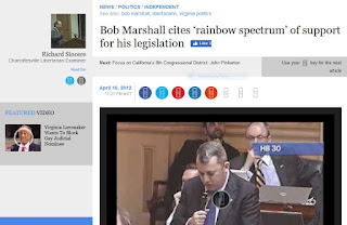 Bob Marshall Adam Ebbin rainbow spectrum Virginia politics