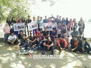 Semangat dan kompaknya Mahasiswa Sekadau yang berada di Pontianak ikut serta dalam penggalangan dana untuk ibu lisan