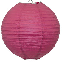 Beautiful Pink Paper Lantern Ideal For Breats Cancer Charity Events