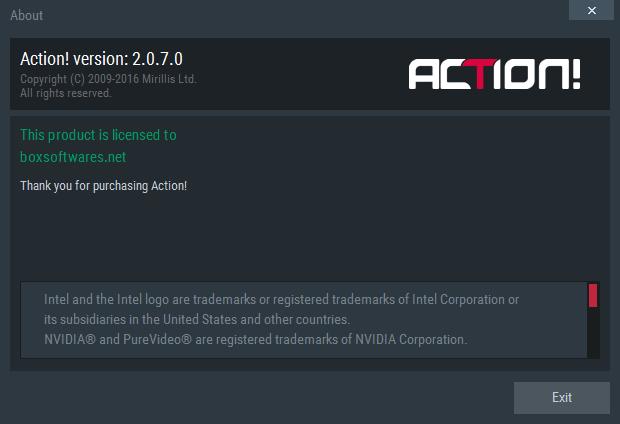 Mirillis Action 2.0.7 Serial Key Crack