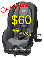Get the Evenflo Tribute 5 Convertible Car Seat for $60 SHIPPED (Reg. $199.99!!!)  -- Over 70% Off!!