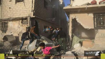 Serangan Udara Rezim Asad Membunuh 32 Warga Sipil dalam Sehari di Suriah