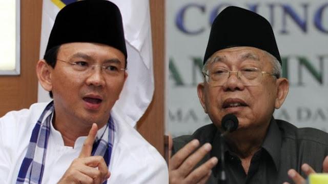 KH Ma'ruf Amin vs Ahok