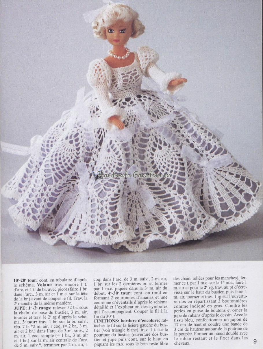 Вязаные платья для кукол. Журнал со схемами (8)