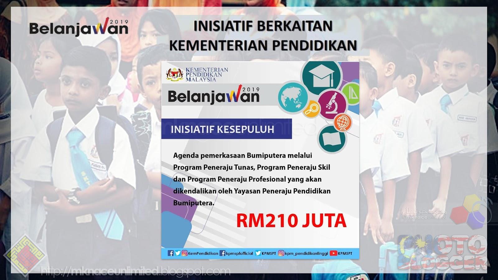 Belanjawan 2019 Inisiatif Berkaitan Kementerian Pendidikan Malaysia