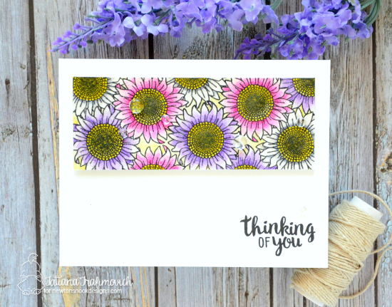 Thinking of you by Tatiana features Flower Garden and Cottage Garden by Newton's Nook Designs, #newtonsnook