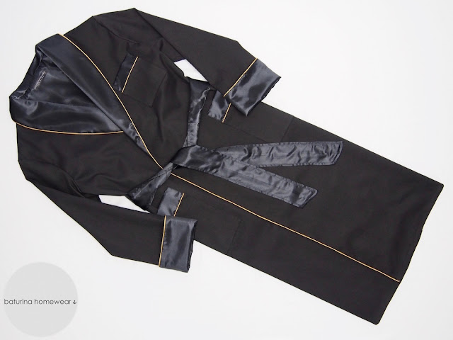 luxus herren hausmantel seide baumwolle schwarz schalkragen satin edel elegant lang englischer morgenmantel mit schalkragen klassisch