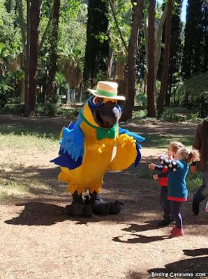Visita d'en Waco, la mascota del Parc Samà