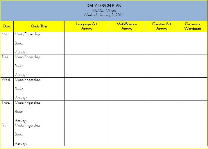 Free Lesson Plan Templates For Middle School – Middle School Lesson Plan Template