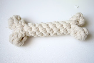 A white rope dog toys