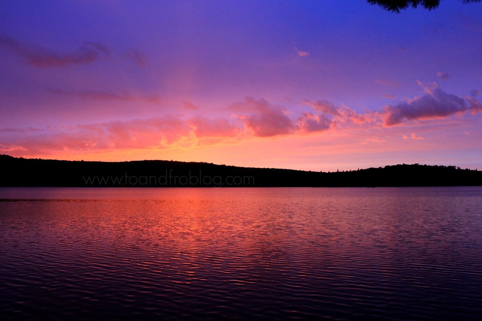 Sunsets in Algonquin Provincial Park