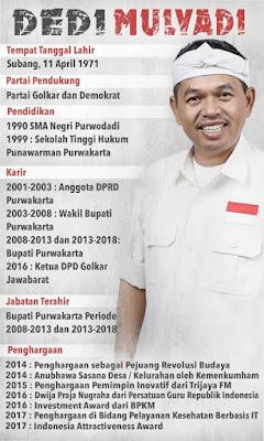 profil lengkap dedi mulyadi