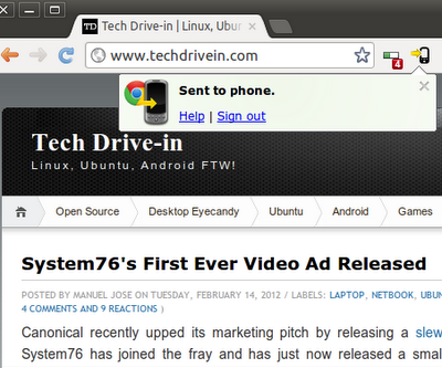 Google Chrome to Phone Android App is Insanely Useful