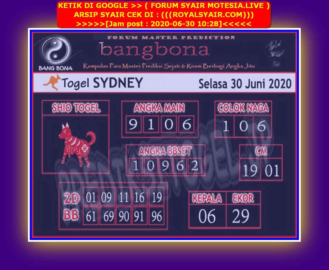 Kode syair Sydney Selasa 30 Juni 2020 96