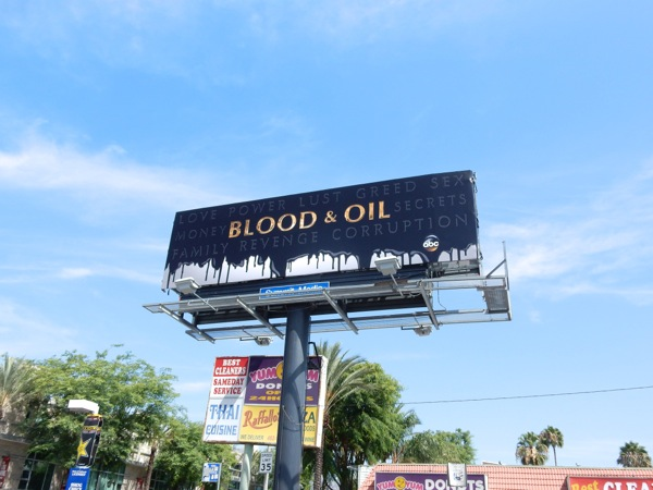 Blood and Oil TV teaser billboard