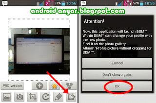 Memasang display picture BBM ukuran foto penuh panjang