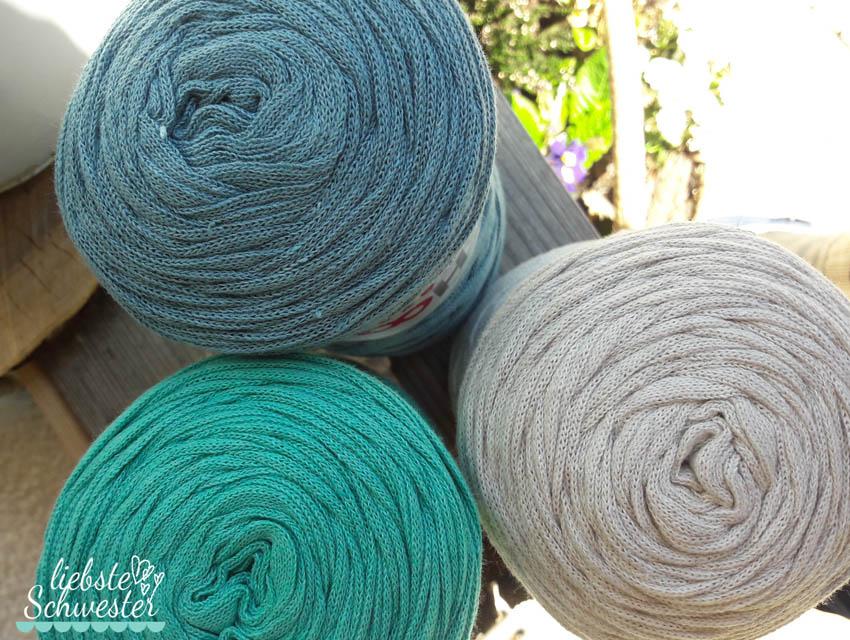 Mit Textilgarn Einen Teppich Häkeln