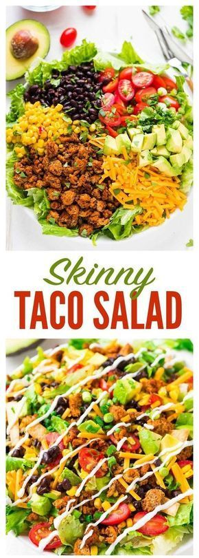 Skinny Taco Salad #Skinny #Taco #Salad #Dinner #Deleciousrecipe #Besrecipe