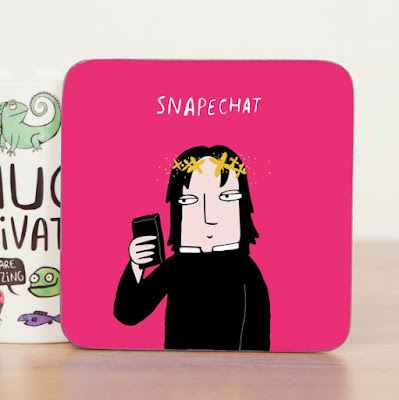Snapechat coaster from Etsy