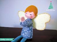 angelo fai da te in feltro