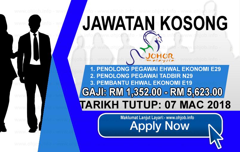 Jawatan Kerja Kosong Tourism Johor logo www.ohjob.info mac 2018