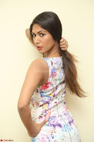 Nishi Ganda stunning cute in Flower Print short dress at Tick Tack Movie Press Meet March 2017 027.JPG