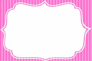 Para hacer invitaciones, tarjetas, marcos de fotos o etiquetas, para imprimir gratis de Rayas Rosa.