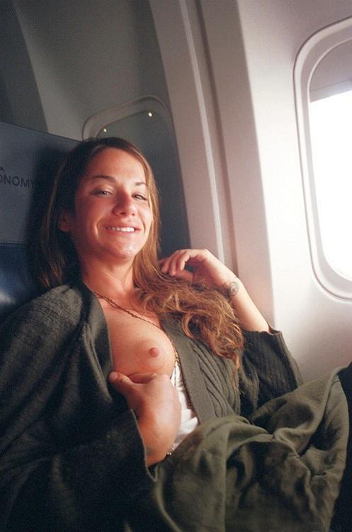 Airplane boobs