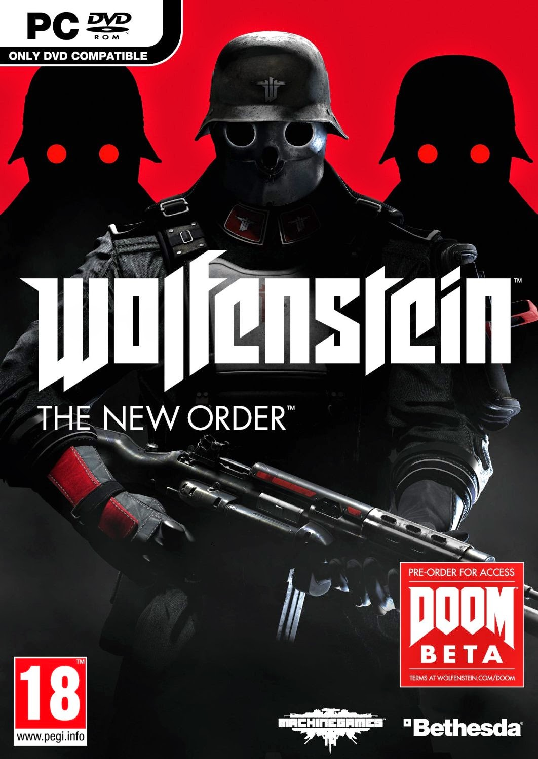 Cover Caratula Wolfenstein The New Order Full PC ESPAÑOL