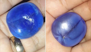 Gross Blue Sapphire with asterism, good quality