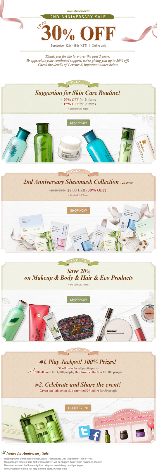 Innisfree Second Anniversary