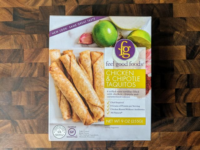Review Feel Good Foods Chicken Chipotle Taquitos Brand Eating