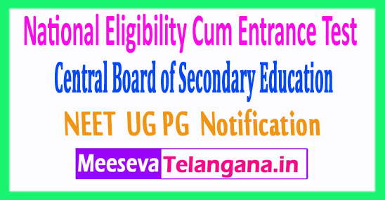 National Eligibility Cum Entrance Test NEET 2018 Application Form Notification Exam Dates Admit Card Download