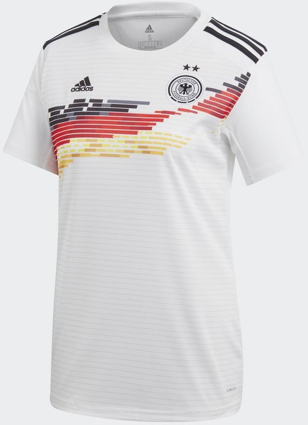 2fcb90b766 Adidas lança as camisas da seleção feminina da Alemanha. A Adidas divulgou  os novos uniformes ...