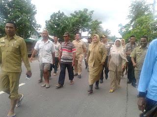 Tinjau  Dampak Banjir Woha, Bupati Minta Inventarisir Kerusakan